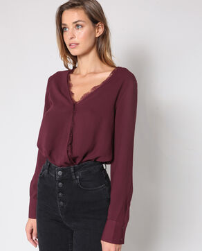 Body camicia bordeaux