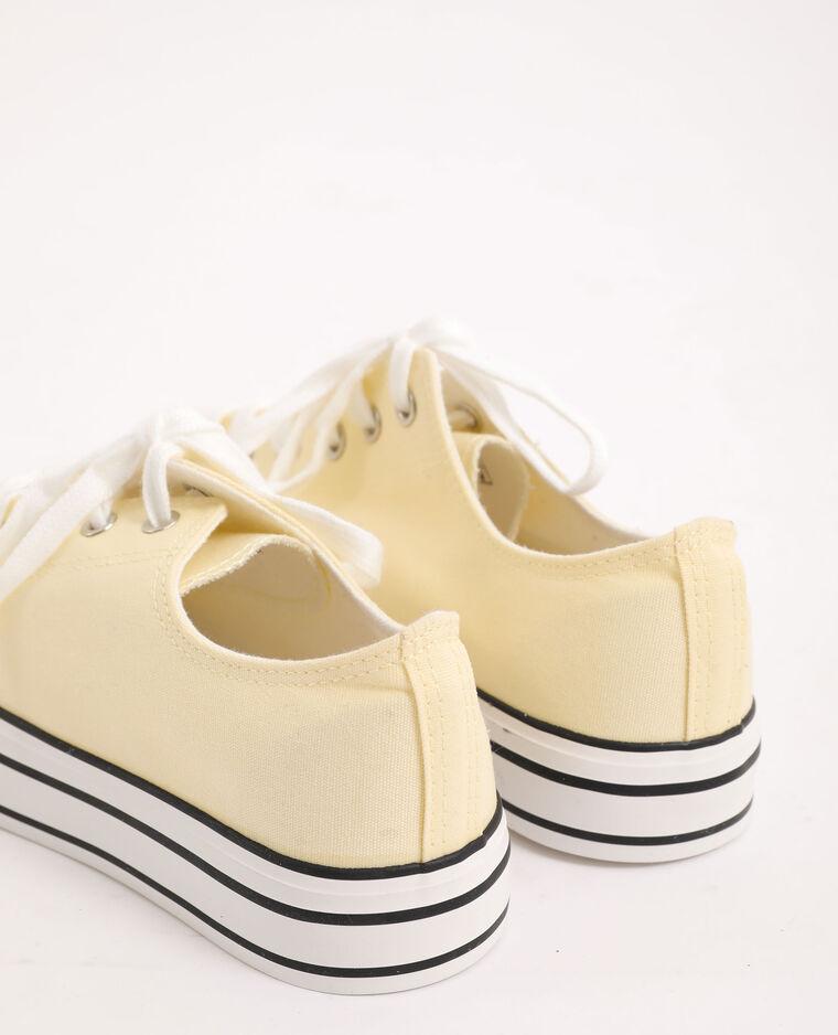 Scarpe da ginnastica in tela giallo pallido - Pimkie