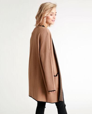 Cardigan caldo marrone