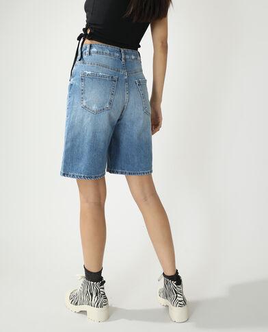 Bermuda di jeans high waist blu denim - Pimkie