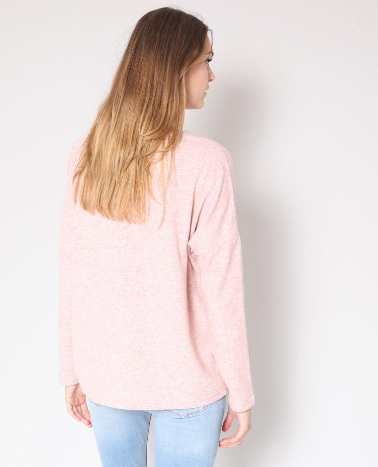 Pull con bottoni rosa
