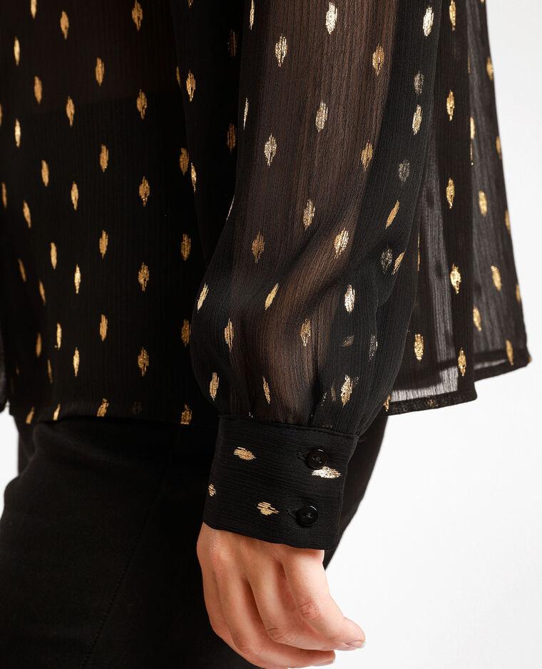 Camicia a macchie nero + giallo