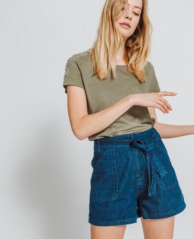 T-shirt a perle kaki