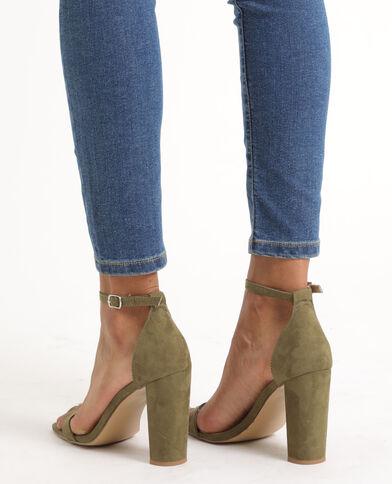 Sandali con tacchi kaki