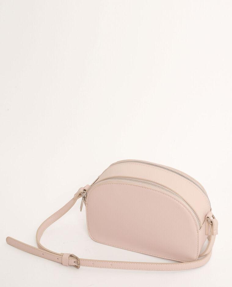 Piccola borsa con zip beige corda