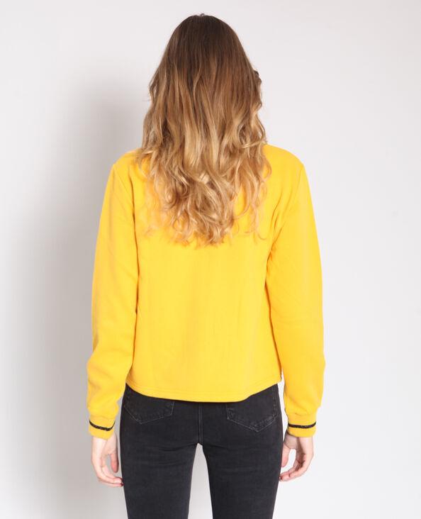 Felpa con collo alto giallo