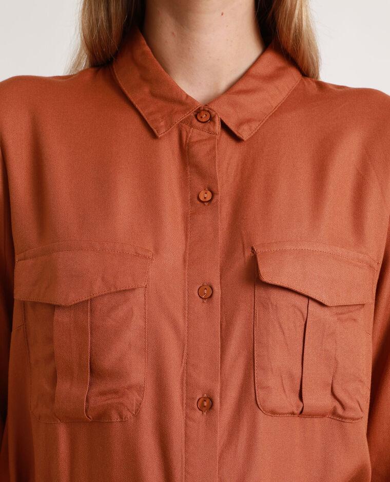 Abito camicia morbido marrone
