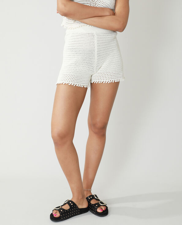 Short all'uncinetto bianco sporco - Pimkie