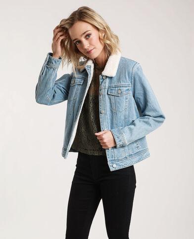 Giacca in jeans foderata blu