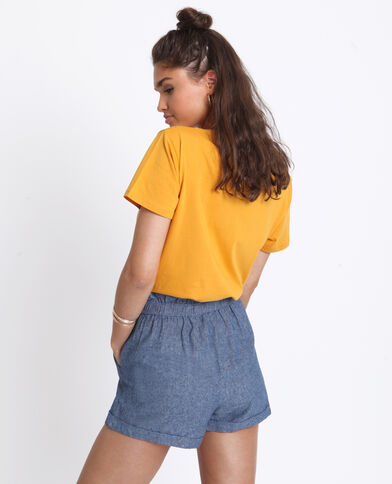 T-shirt Frida Kahlo giallo