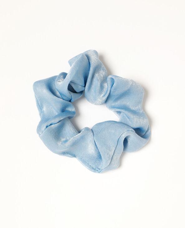 Elastico satinato blu cielo