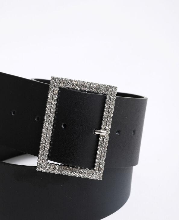 Cintura con strass nero