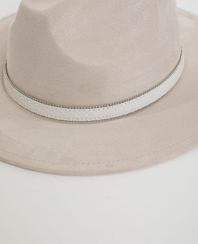 Cappello effetto pelle scamosciata bianco - Pimkie