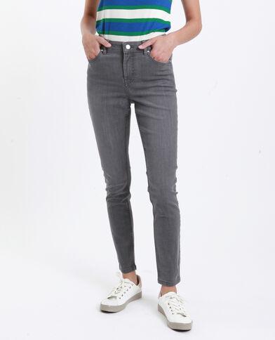 Jeans skinny mid waist grigio