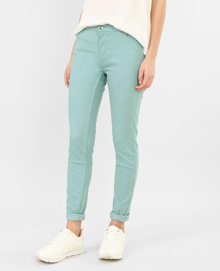 Pantaloni slim verde