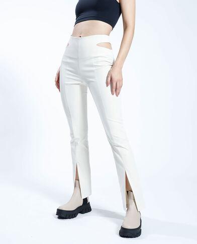 Pantalone con tagli beige - Pimkie