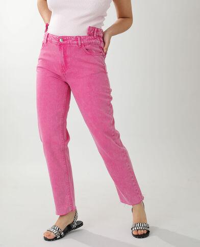 Jeans straight high waist rosa - Pimkie