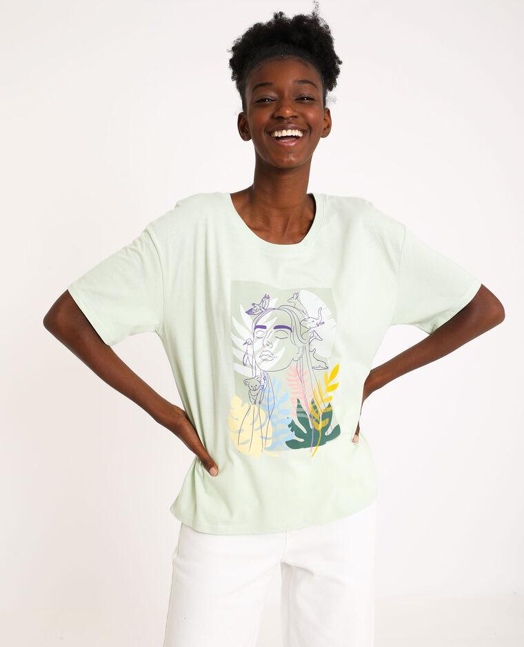 T-shirt stampata verde