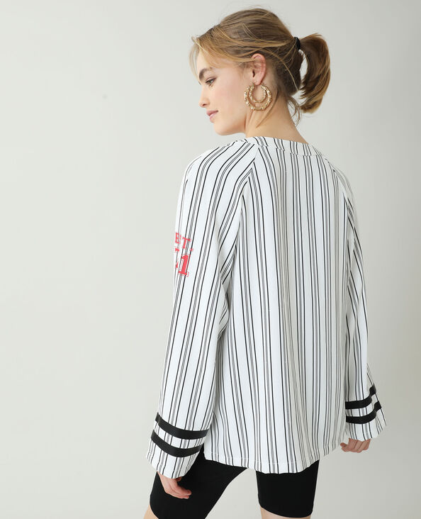 Camicia da baseball bianco - Pimkie