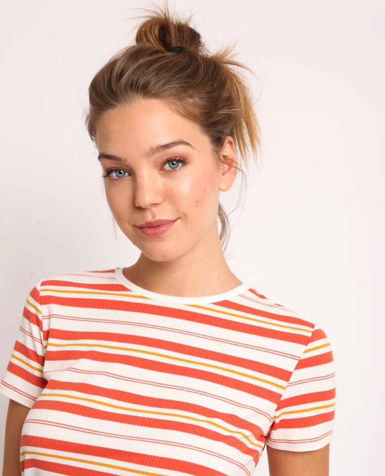 T-shirt a righe arancio
