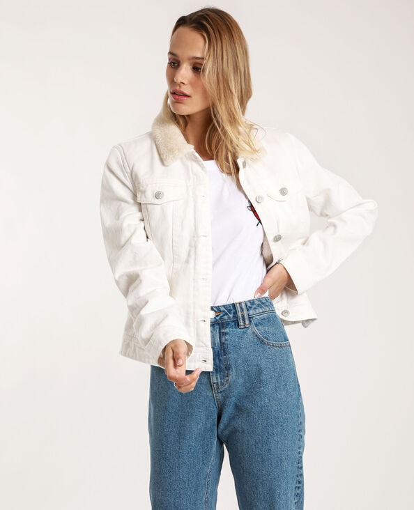 Giacca in jeans foderata écru