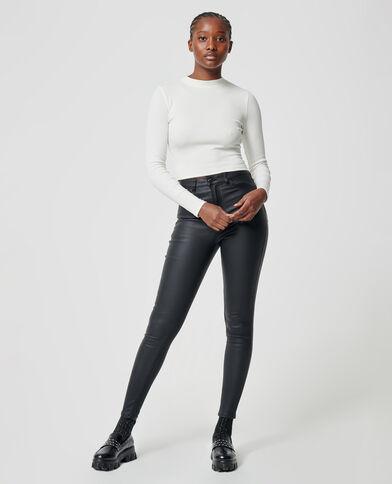 Jeans skinny spalmato nero - Pimkie