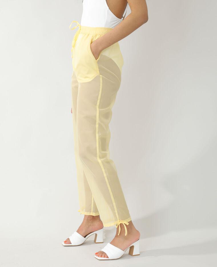 Pantalone trasparente giallo - Pimkie