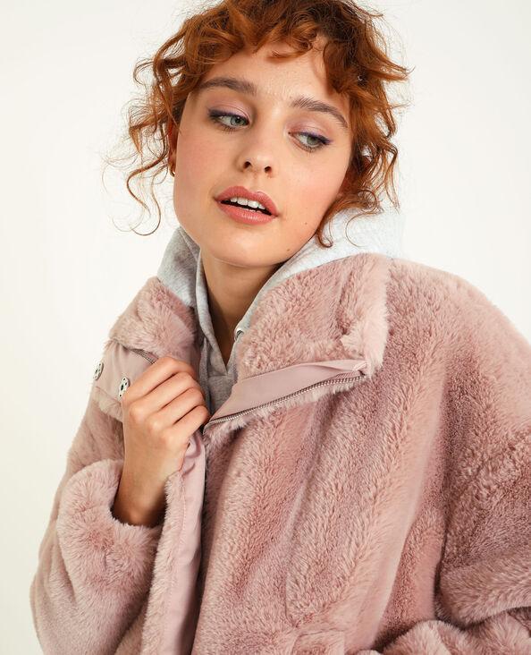 Giubbotto in pelliccia ecologica rosa