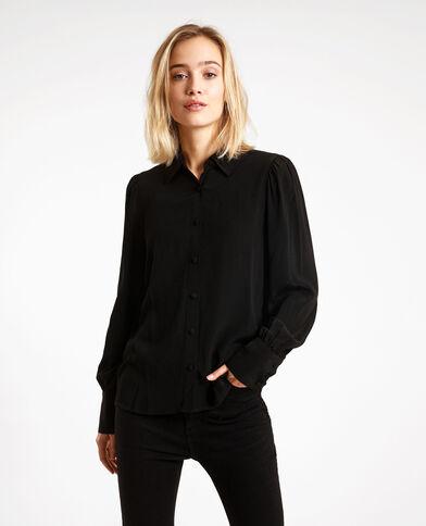 Camicia maniche a sbuffo nero