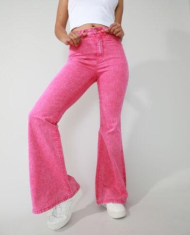 Jeans flare high waist rosa - Pimkie