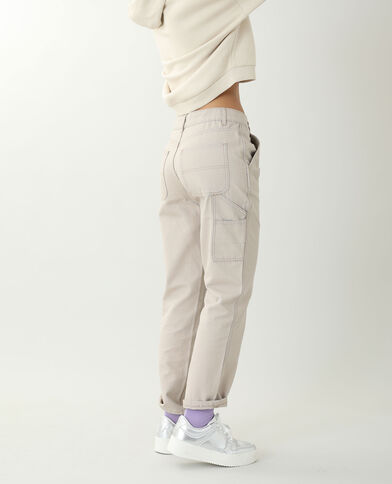 Pantalone dritto beige - Pimkie
