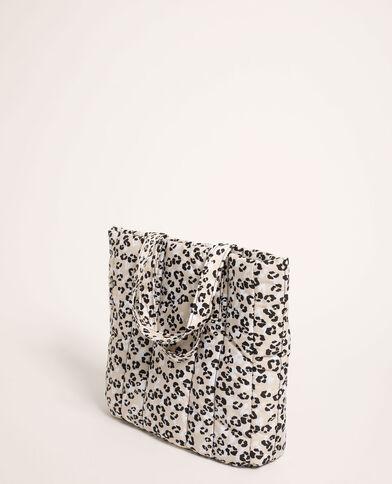 Borsa shopping leopardata trapuntata beige - Pimkie