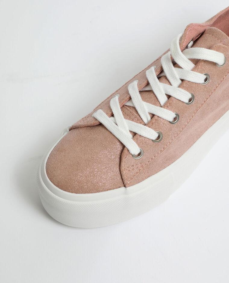 Scarpe da ginnastica con suola spessa rosa cipria