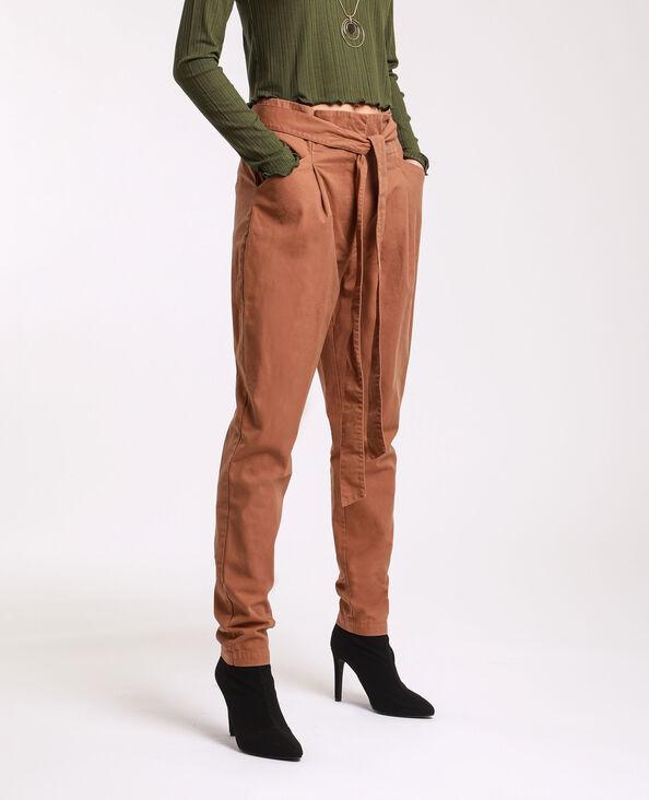 Pantalone a carota marrone