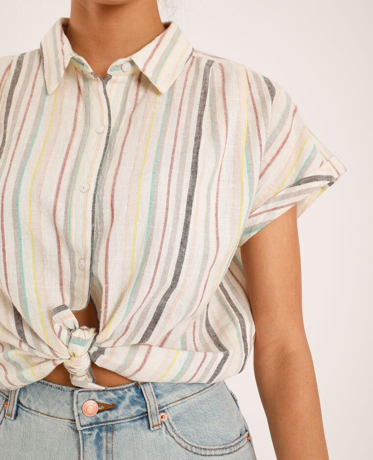Camicia a righe bianco