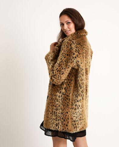 Cappotto leopardato caramello