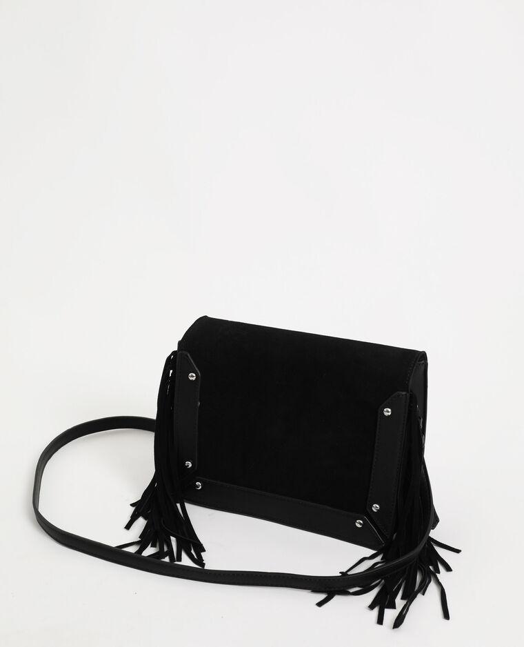 Piccola borsa con frange nero