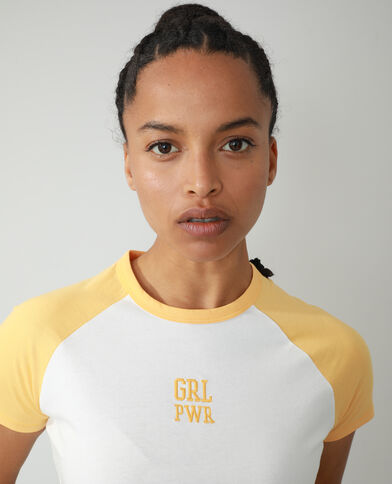 T-shirt con scritta bianco - Pimkie