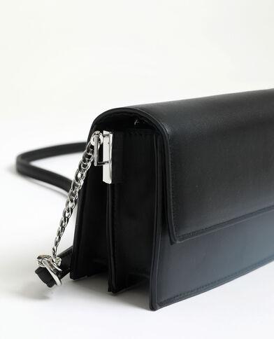 Piccola borsa in finta pelle. nero