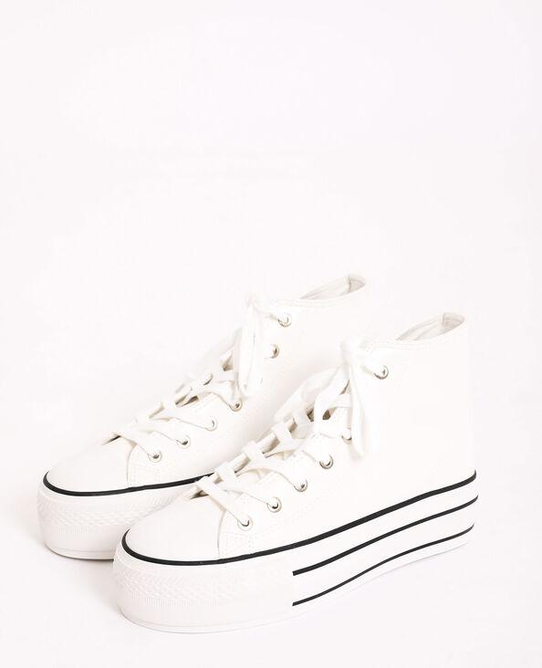 Scarpe da ginnastica con zeppa bianco