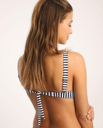 Pezzo sopra di bikini a righe bianco