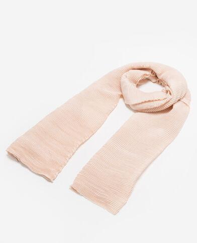 Sciarpa plissettata rosa cipria