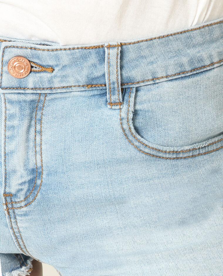 Short corto blu delavato