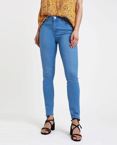 Jeans skinny mid waist blu delavato