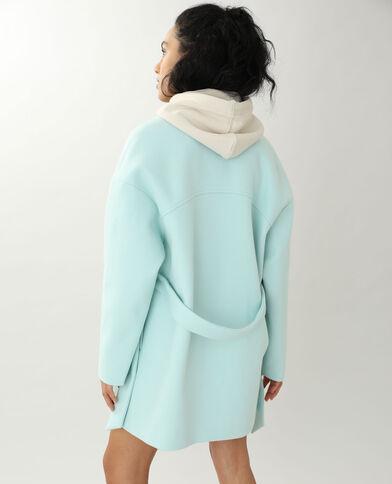 Cappotto effetto panno di lana verde