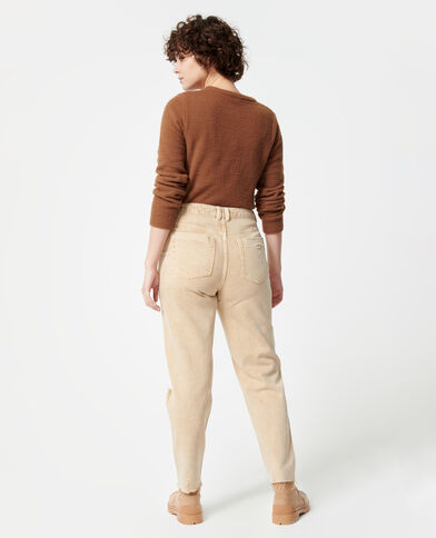 Jeans mom effetto used écru - Pimkie