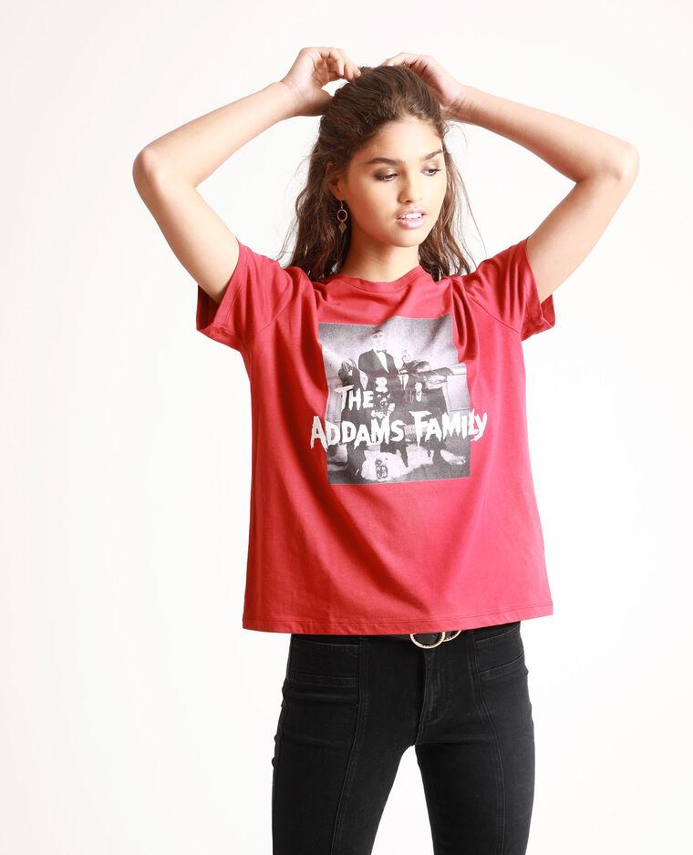 T-shirt La famiglia Addams rosso