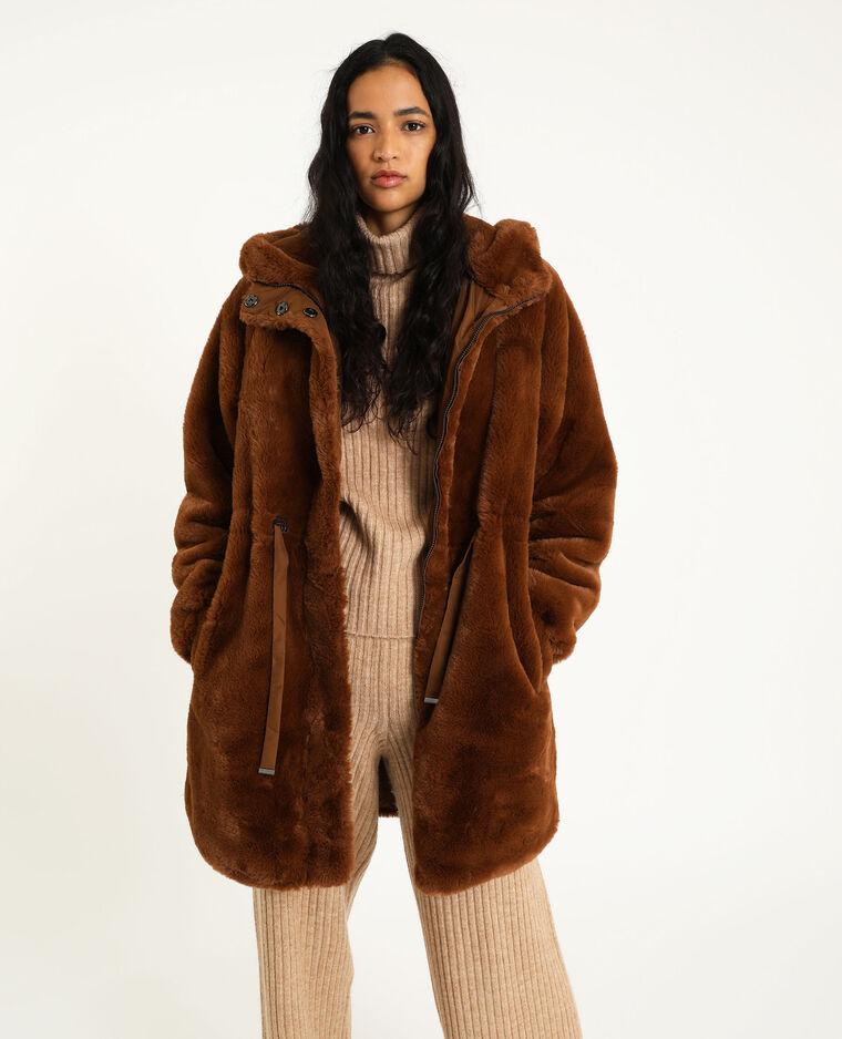 Cappotto in pelliccia ecologica cammello - Pimkie