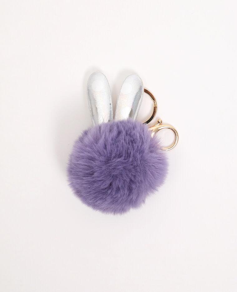 Portachiavi a forma di coniglio viola