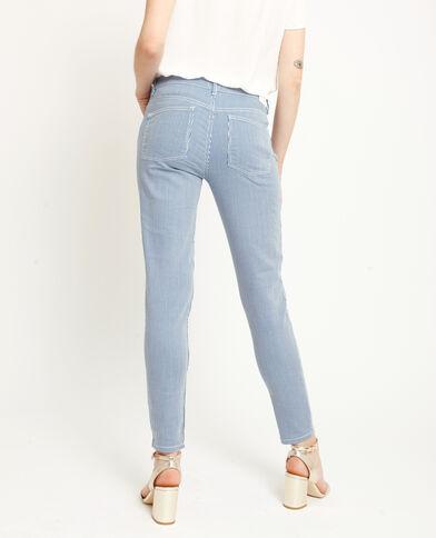 Pantalone skinny a righe blu